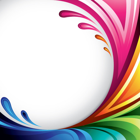 blue circles: A splash of various colors - Background design for your text Illustration