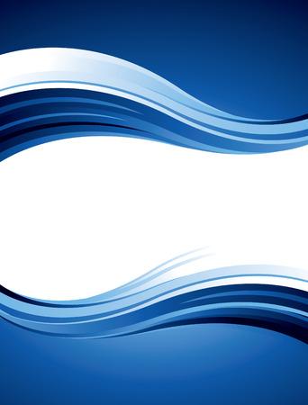 Blue wavy design Illustration