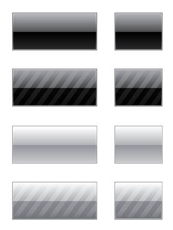 elegantly: Set of elegantly striped web 2.0 buttons Illustration