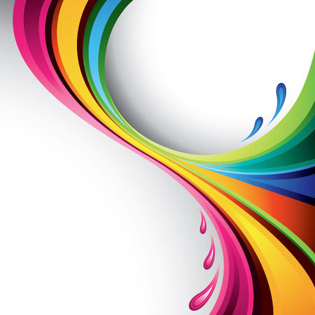 A splash of various colors - vector background Illustration