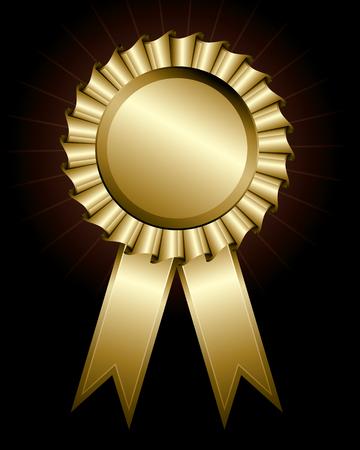 illustration of a shiny award ribbon