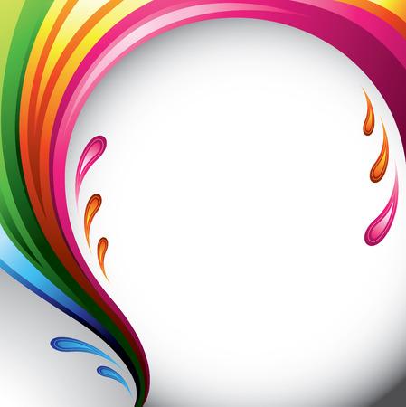 splash color: Una spruzzata di vari colori - progettazione di sfondo per il tuo testo  Vettoriali