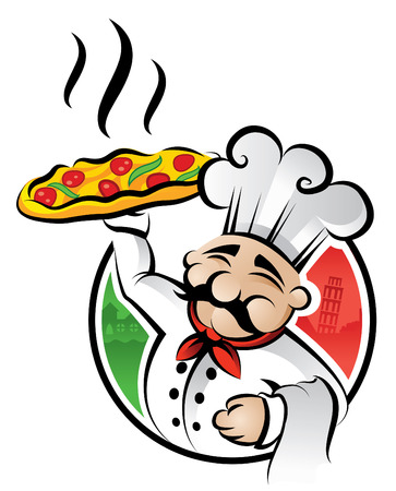 Illustration of an italian chef Vector