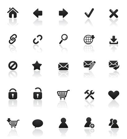 Rounded icons series: Set 1 Ilustra��o