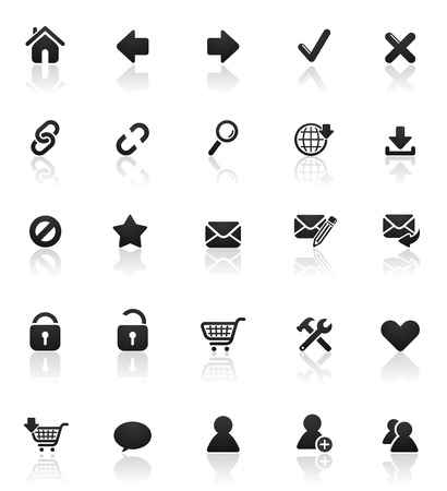 Rounded icons series: Set 1 Illustration
