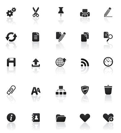Rounded icons series: Set 2 Vector