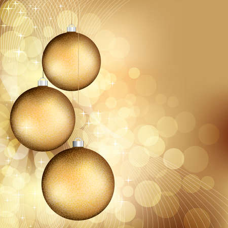 Bright and golden christmas design with room for your text or images photo