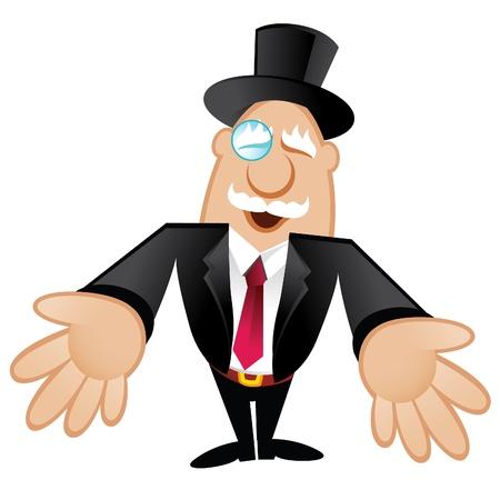 wealthy man: Illustration of a Rich Man Illustration