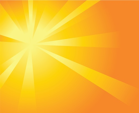 Shiny Orange Background with Beams Vector