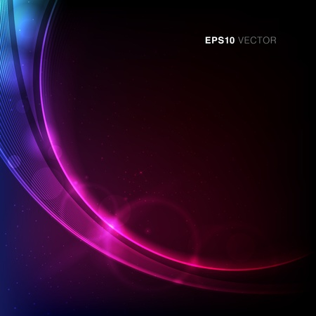 EPS10 Vector design with stars, rays and vibrant light Ilustracja