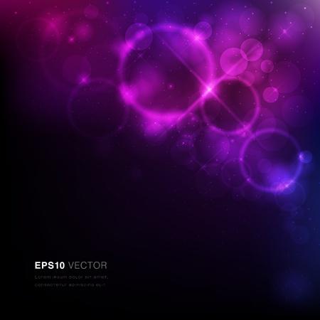 Vector EPS10 illustratie van een nevel met sterren en levendige licht