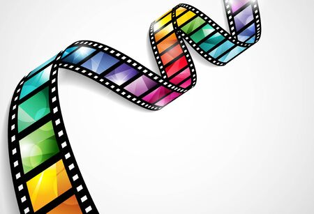 Vector design with a bright and colorful film strip