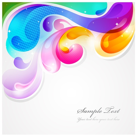 Abstract colorful paint splash background Stock Vector - 13569526