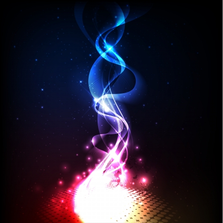 Background with colorful and magic lights Ilustra��o
