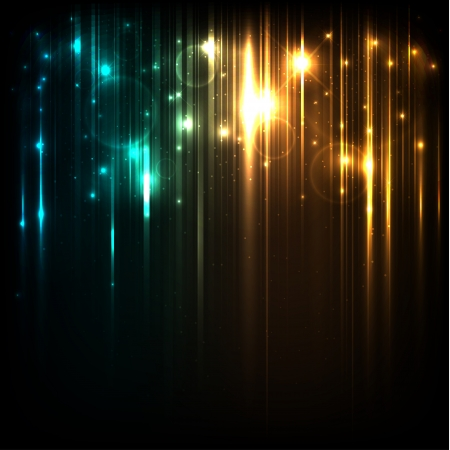 glow in the dark: Vector background with bright magic lights and stars Illustration