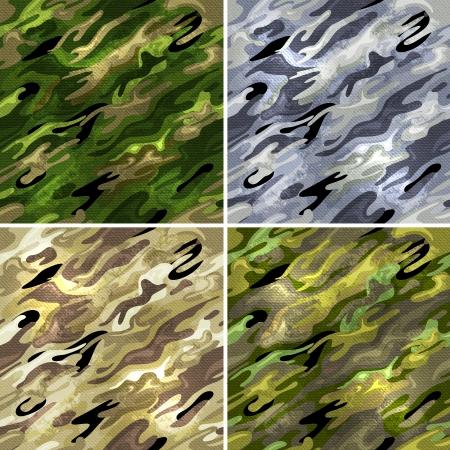 procedencias, y de tela de camuflaje militar. Ilustración de vector
