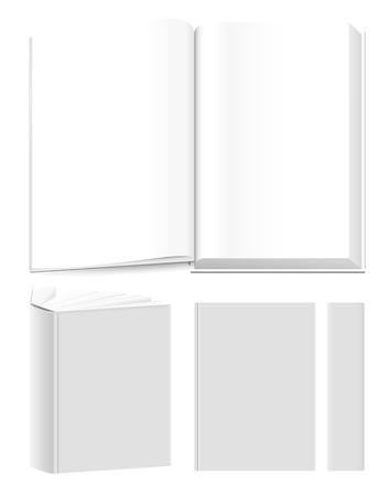 presentational: Vector book templates for presentational purposes. Overlay your own covers or spreads.