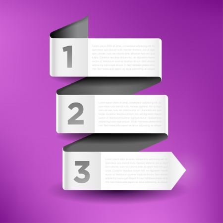 versions: Vector illustration with three banners for infographics