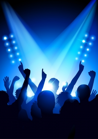 cheering: Cheering crowd at a concert  poster format