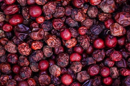 Dried jujube mix on asian outdoor market
