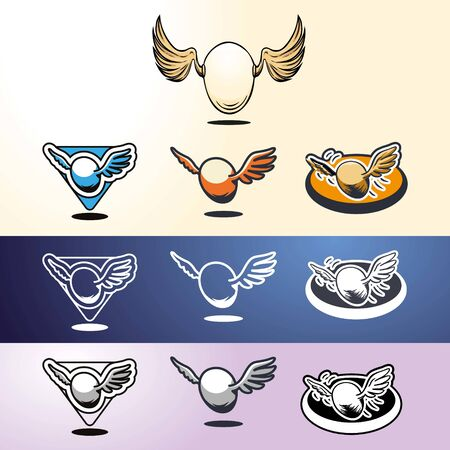 Egg wings or ball wings Ilustracje wektorowe