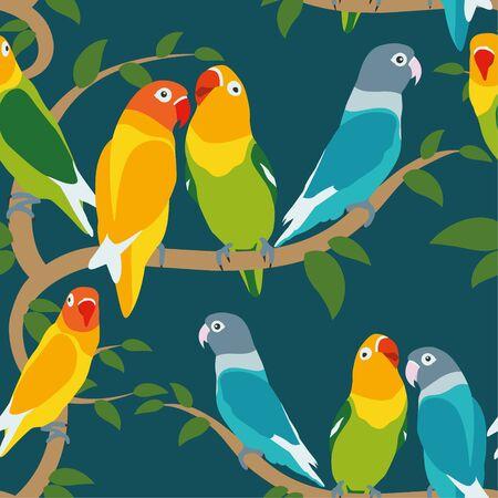 Various lovebird pattern