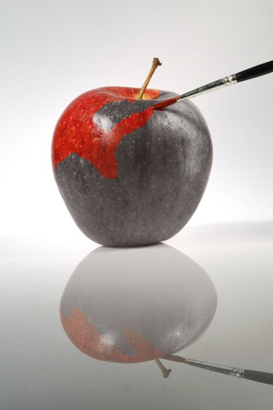 apple painted photo