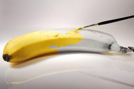 banana painted Stock Photo