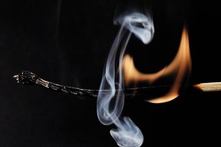 burned out: burning match extinguished , burned out