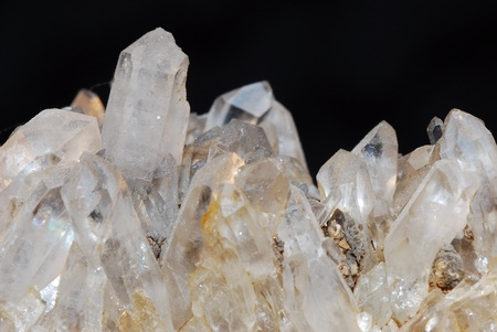 beautifully transparent rock crystal minerals from a quarry photo