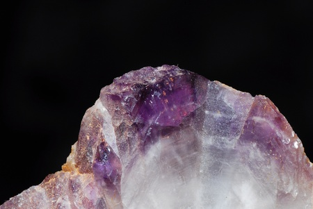 view purple amethyst rock crystal with sharp detail photo