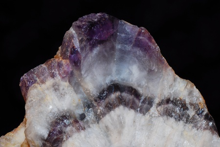 beautiful shining bright purple amethyst macro view photo