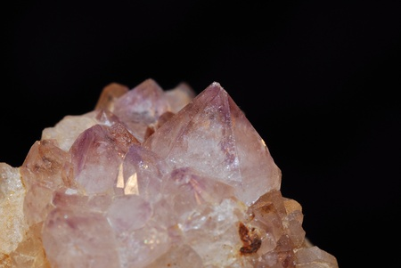 amethyst mineral on bedrock with many small pink tips Stock Photo - 13075280