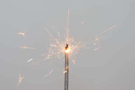 christmas sparkler to burn bright and hot photo
