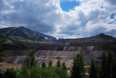 gradual: mineral minero monta�a con una degradaci�n gradual de muchos Austria