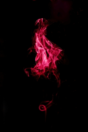 steamy: red smoke on black background with turbulences