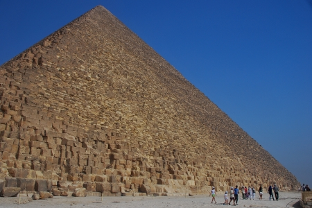 chephren: high pyramid in egypt with blue sky holiday