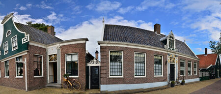 maintained: well maintained beautiful village museum in amsterdam panorama Editorial
