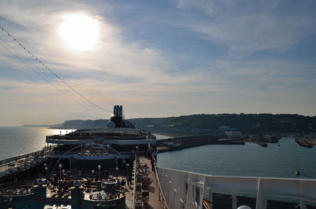 big cruise ship in the port of dover england