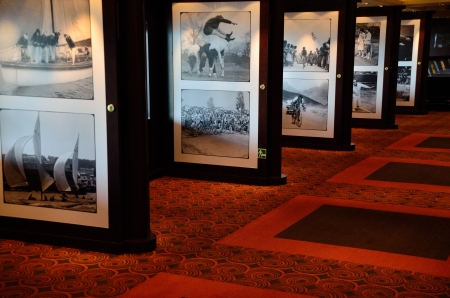 pictures exhibition on a cruise ship
