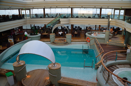 spa with pool on a ship indoor