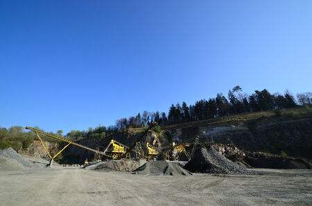 promotion of gravel in a mine quarry photo