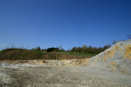 quarries and gravel with clay photo