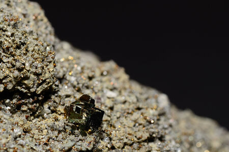 detailed view: beautiful pyrite cubes detailed view