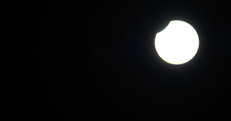 solar eclipse: super bright white solar eclipse panorama