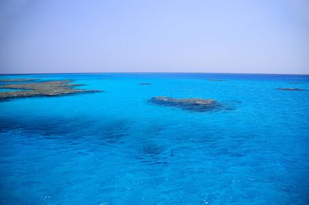 crystal clear: crystal clear blue sea on holiday in Egypt