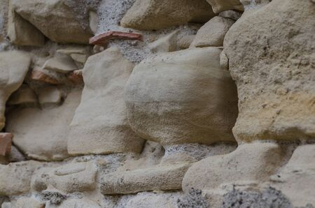old wall from sandstone
