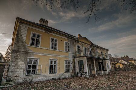 going places: beautiful old abandoned house Stock Photo