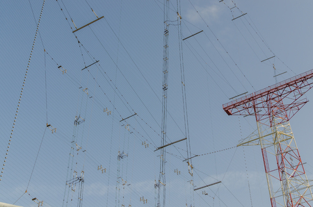 high frequency: many lines for connection to a transmitting system