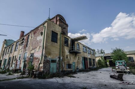 manufacturer: old abandoned colorful factory